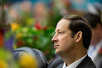 TALLAHASSEE, FLA. 3/5/13-OPENING030513CH-Sen. Joe Negron, R-Stuart,  listens to Gov. Rick Scott give his State of the State address during the opening day of the 2013 legislative session Tuesday at the Capitol in Tallahassee, Fla...COLIN HACKLEY PHOTO