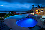 Costa Rica, El Castillo, Mountain Lodge, Lake Arenal, Rainforest, Swimming Pool Facilities, Jacuzzi, Dusk, Property Released