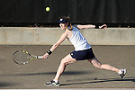 24 March 2016: Notre Dame's Quinn Gleason. The North Carolina State University Wolfpack hosted the University of Notre Dame Fighting Irish at the J.W. Isenhour Tennis Center in Raleigh, North Carolina in a 2015-16 NCAA Division I Women's Tennis match. NC State won the match 4-3.
