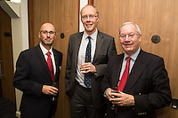 From left are Philip Morris and Ian Stevens both of Potter Clarkson and Graham Marlow of I P Recruitment