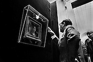 Washington, D.C. February 15th, 1972. André Malraux looks at the Ginevra de' Benci by Leonardo da Vinci at the National Gallery of Art during his trip to the United States. He was a French art theorist, novelist who wrote the 1933 Prix Goncourt winning novel La Condition Humaine, and was the Minister for Cultural Affairs during Charles de Gaulle's presidency from 1959 - 1969.