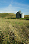 The many graineries dotting the land in the Palouse Valley in Washington