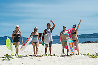 Namotu Island Resort, Fiji. Wednesday April 1 2015) - The surf was in the 4' range this morning with  clear skies and moderate ESE Trade winds. It blew out the surf after lunch. The  guests had sessions at Namotu Lefts, Swimming Pools and Cloudbreak. Other activities included snorkelling, hiking on Castaway Island and fishing Photo: joliphotos.com
