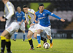 St Mirren v St Johnstone...06.12.14   SPFL<br /> Michael O'Halloran battles with John McGinn<br /> Picture by Graeme Hart.<br /> Copyright Perthshire Picture Agency<br /> Tel: 01738 623350  Mobile: 07990 594431