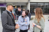 Clive Lewis MP with University of East Anglia students during his General Election re-election campaign.  He was on campus as the students are protesting at the university's decision to shut the Muslim prayer room, just a few days before Ramadan starts and during the exam season. The Multi-Faith Centre is not a suitable alternative. Norwich 19 May 2017