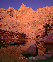 Dawn, Pothole Lake, Kearsarge Pass, Muir Wilderness, Inyo National Forest, Eastern Sierra, California