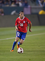 CARSON, CA – JANUARY 22: Chile defender Paulo Magalhaes (16) during the international friendly match between USA and Chile at the Home Depot Center, January 22, 2011 in Carson, California. Final score USA 1, Chile 1.