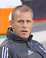 Colorado Rapids head coach Gary Smith.  The Colorado Rapids defeated the New England Revolution, 2-1, at Gillette Stadium on April 24.2010