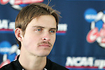 10 December 2005: Jeff Rowland. The University of New Mexico Lobos held a press conference the day before playing in the NCAA Men's College Cup, the Division I Championship soccer game, at SAS Stadium in Cary, NC..
