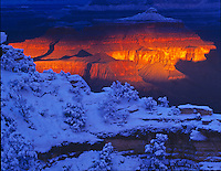 Sunrise stormlight                 Grand Canyon National Park,  Arizona     Mather Point     Colorado River  Aftermath of winter storm