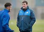 St Johnstone Training&hellip;.16.12.16<br />Manager Tommy Wright pictured during training this morning at a wet and foggy McDiarmid Park<br />Picture by Graeme Hart.<br />Copyright Perthshire Picture Agency<br />Tel: 01738 623350  Mobile: 07990 594431