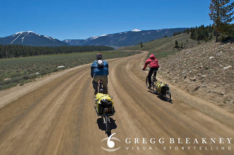 Touring cyclists clear Cottonwood Pass during a 7-day Rocky Mountain Tour - Cottonwood Pass - Colorado