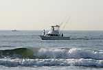 Fishing boats off the shore in Ocean Grove,  New Jersey. Photo By Bill Denver/EQUI-PHOTO