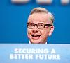 Conservative Party Conference, ICC, Birmingham, Great Britain <br /> 1st October 2014<br /> <br /> Michael Gove MP <br /> <br /> Photograph by Elliott Franks <br /> Image licensed to Elliott Franks Photography Services