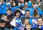 St Johnstone v Aberdeen...13.04.14    William Hill Scottish Cup Semi-Final, Ibrox<br /> Saints fans in good mood prior to kick off<br /> Picture by Graeme Hart.<br /> Copyright Perthshire Picture Agency<br /> Tel: 01738 623350  Mobile: 07990 594431
