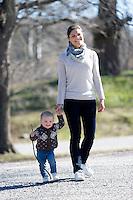 Princess Victoria Of Sweden with daughter Princess Estelle - Sweden