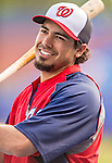 23 February 2013: Washington Nationals infielder Anthony Rendon awaits his turn in the batting cage prior to a Spring Training Game against the New York Mets at Tradition Field in Port St. Lucie, Florida. The Mets defeated the Nationals 5-3 in their Grapefruit League Opening Day game. Mandatory Credit: Ed Wolfstein Photo *** RAW (NEF) Image File Available ***