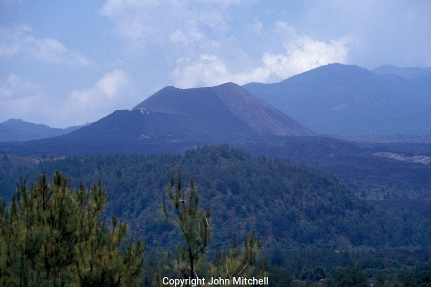 The cone of Volcan Paricutin, Michoacan, Mexico