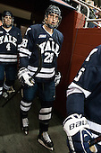 Antoine Laganiere (Yale - 28) - The Boston College Eagles tied the visiting Yale University Bulldogs 3-3 on Friday, January 4, 2013, at Kelley Rink in Conte Forum in Chestnut Hill, Massachusetts.