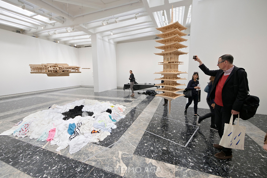 57th Art Biennale in Venice - Viva Arte Viva. Giardini.<br /> Japanese Pavillion.<br /> Takahiro Iwasaki: Turned Upside Down, It's a Forest