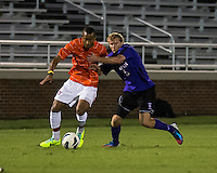 The number 24 ranked Furman Paladins took on the number 20 ranked Clemson Tigers in an inter-conference game at Clemson's Riggs Field.  Furman defeated Clemson 2-1.  Alexandra Rome'o Happi (15), John Lung'aho (5)