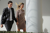 White House Senior Advisor to the President for Strategic Planning Jared Kushner (L) and his wife and President Donald Trump's daughter Ivanka Trump walk down the West Wing Colonnade following a bilateral meeting between Trump and Japanese Prime Minister Shinzo Abe February 10, 2017 in Washington, DC. Trump and Abe are expected to discuss many issues, including trade and security ties and will hold a joint press conference later in the day. <br /> Credit: Chip Somodevilla / Pool via CNP