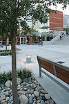 Students walk across the commons at Seattle University.