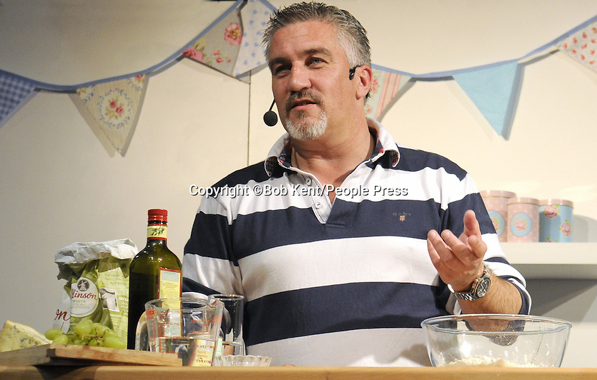 London - Celebrity Chef Paul Hollywood at the Cake International Show - Day 2, Excel, London - April 13th 2013..Photo by Bob Kent.