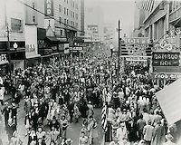 1945 November 11..Historical...Granby Street between College Place & Freemason Street.V-J Day ...NEG#.NRHA#..