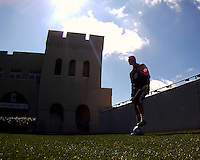 Joe Willis#31 of D.C. United during a training session in Hapgood Stadium on the campus of the Citadel,on March 11 2011, in Charleston, South Carolina