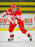 9 February 2008: Boston University Terriers' forward Caroline Bourdeau, a Junior from West Hartford, CT, in action against the University of Vermont Catamounts at Gutterson Fieldhouse in Burlington, Vermont. The Terriers shut out the Catamounts 2-0 in the Hockey East matchup...Mandatory Photo Credit: Ed Wolfstein Photo