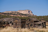 The decaying structures of the Johnson Canyon movie set near Kanab, Utah, once surrounded the stars of Gunsmoke and actors such as Omar Sharif and Gregory Peck. Now the western movie set looks more like a ghost town than a bustling frontier village. The Kanab, Utah, area was once known as Utah's Little Hollywood for the number of westerns made nearby from the 1930s through the 1960s. The area still stars in films, though less frequently.