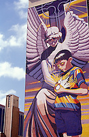 Mural entitled Spirit of Healing by Jesse Travino painted on Children's Hospital in San Antonio, Texas