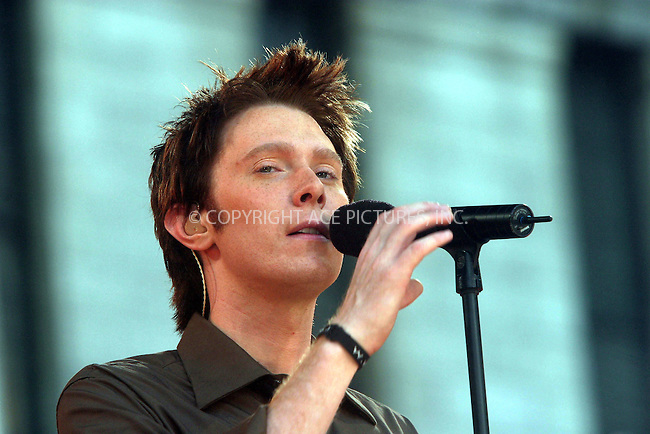 """July 2, 2004- Clay Aiken performs on """"Good Morning America's"""" Summer Concert Series in New York City"""