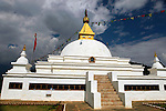Asia, Bhutan, Punakha. Sangchen Lhuendrup Choling Nunnery, newly opened in 2010.