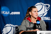 SPOKANE, WA - MARCH 27, 2011: Jeanette Pohlen,  during the off-day press conference, Stanford Women's Basketball, NCAA West Regionals on March 27, 2011.