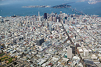 aerial photograph Civic Center Market Street San Francisco, California