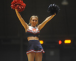 "An Ole Miss cheerleader at the C.M. ""Tad"" Smith Coliseum in Oxford, Miss. on Thursday, December 29, 2010. (AP Photo/Oxford Eagle, Bruce Newman)"