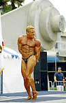 Body building competition at Muscle Beach in Vencie