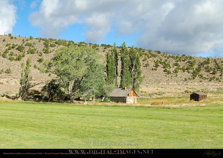 Parker Ranch House and Granary, Butch Cassidy's Boyhood Home, Circle Valley near Circleville, Utah