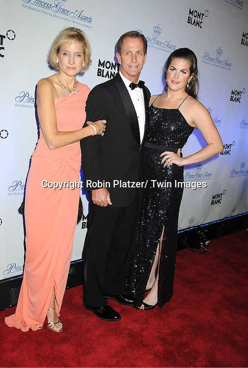 Prince Albert's cousin Chris Levine and family attends The Princess Grace Foundation Awards Gala on ..November 1, 2011 at Cipriani 42nd Street in New York City.