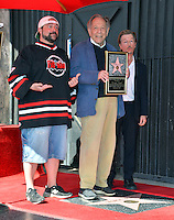 George Segal with Kevin Smith &amp; David Spade at the Hollywood Walk of Fame Star Ceremony honoring actor George Segal. Los Angeles, USA 14 February  2017<br /> Picture: Paul Smith/Featureflash/SilverHub 0208 004 5359 sales@silverhubmedia.com