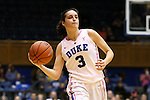 04 February 2016: Duke's Angela Salvadores (ESP). The Duke University Blue Devils hosted the University of Virginia Cavaliers at Cameron Indoor Stadium in Durham, North Carolina in a 2015-16 NCAA Division I Women's Basketball game. Both teams wore pink as part of the annual Play4Kay game in support of the Kay Yow Cancer Fund. Duke won the game 67-52.