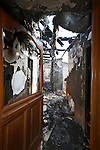 burned out house entrance