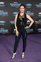 """HOLLYWOOD, CA - April 19: Alicia Machado, At Premiere Of Disney And Marvel's """"Guardians Of The Galaxy Vol. 2"""" At The Dolby Theatre  In California on April 19, 2017. Credit: FS/MediaPunch"""