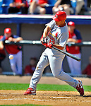 12 March 2012: St. Louis Cardinals infielder Alex Cora in action during a Spring Training game against the Washington Nationals at Space Coast Stadium in Viera, Florida. The Nationals defeated the Cardinals 8-4 in Grapefruit League play. Mandatory Credit: Ed Wolfstein Photo