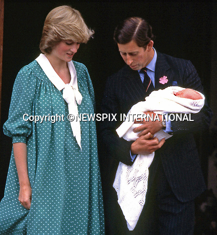 "London, UK, JUNE 22,1982:  BIRTH OF PRINCE WILLIAM.Prince Charles and Princess Diana leave St Mary's Hospital with their baby son Prince William..Prince William (Wiiliam Arthur Louis Mountbatten-Windsor) the first child of the Prince and Princess of Wales was born on 21st June 1982.Mandatory credit photo: ©FRANCIS DIAS/NEWSPIX INTERNATIONAL..(Failure to credit will incur a surcharge of 100% of reproduction fees).Immediate notification of usage required...**ALL FEES PAYABLE TO: ""NEWSPIX INTERNATIONAL""**..Newspix International, 31 Chinnery Hill, Bishop's Stortford, ENGLAND CM23 3PS.Tel:+441279 324672.Fax: +441279656877.Mobile:  07775681153.e-mail: info@newspixinternational.co.uk"