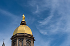 April 22, 2017; Golden Dome, spring 2017. (Photo by Barbara Johnston/University of Notre Dame)