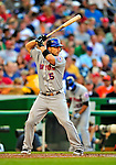 6 June 2009: New York Mets' third baseman David Wright in action against the Washington Nationals at Nationals Park in Washington, DC. The Mets fell to the Nationals 7-1 as Nats' starting pitcher John Lannan tossed his first career complete-game win. Mandatory Credit: Ed Wolfstein Photo