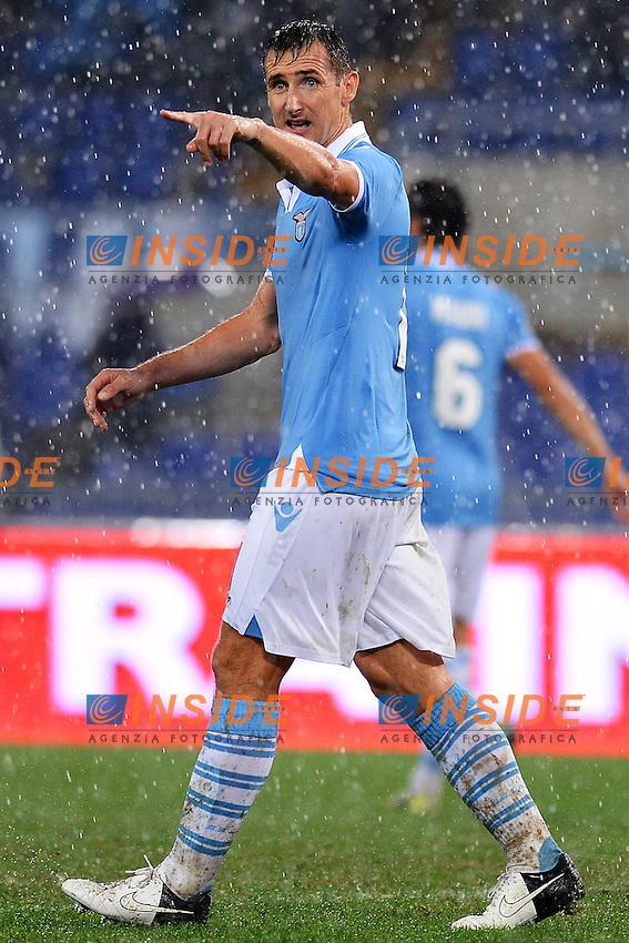 Miroslav Klose Lazio.Roma 11/11/2012 Stadio Olimpico.Football Calcio 2012/2013 Serie A.Lazio Vs Roma.Foto Insidefoto Andrea Staccioli